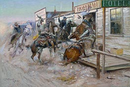 Charles Marion Russell | In Without Knocking | Giclée Canvas Print