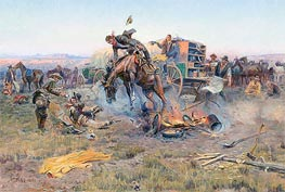 Charles Marion Russell | The Camp Cook's Troubles | Giclée Canvas Print
