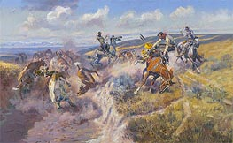A Tight Dally and a Loose Latigo, 1920 by Charles Marion Russell | Giclée Canvas Print