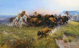 The Buffalo Hunt, 1919 by Charles Marion Russell | Giclée Canvas Print