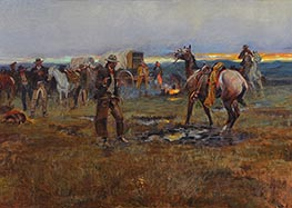 Charles Marion Russell | When Horses Talk There's Slim Chance for Truce | Giclée Canvas Print