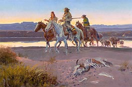 Carson's Men, 1913 by Charles Marion Russell | Giclée Canvas Print