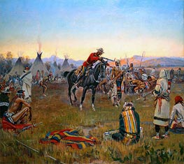 Charles Marion Russell | Single-Handed, 1912 | Giclée Canvas Print