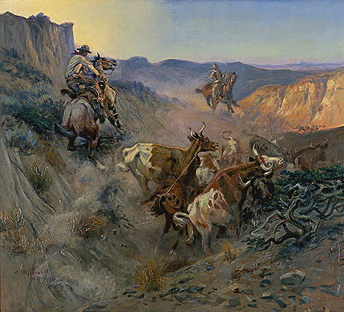 The Slick Ear, 1914   Charles Marion Russell   Painting Reproduction