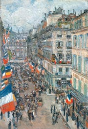 Hassam | July Fourteenth, Rue Daunou, 1910 | Giclée Canvas Print