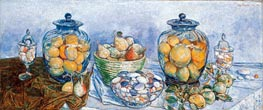 Hassam | Long Island Pebbles and Fruit | Giclée Canvas Print