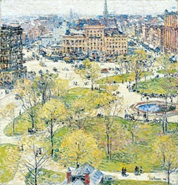 Hassam | Union Square in Spring | Giclée Canvas Print