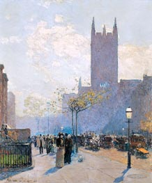 Hassam | Lower Fifth Avenue | Giclée Canvas Print
