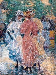 Hassam | Conversation on the Avenue | Giclée Canvas Print