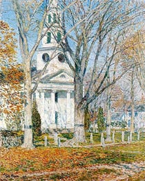 Hassam | Church at Old Lyme, 1903 | Giclée Canvas Print