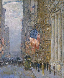 Hassam | Flags on the Waldorf, 1916 | Giclée Canvas Print