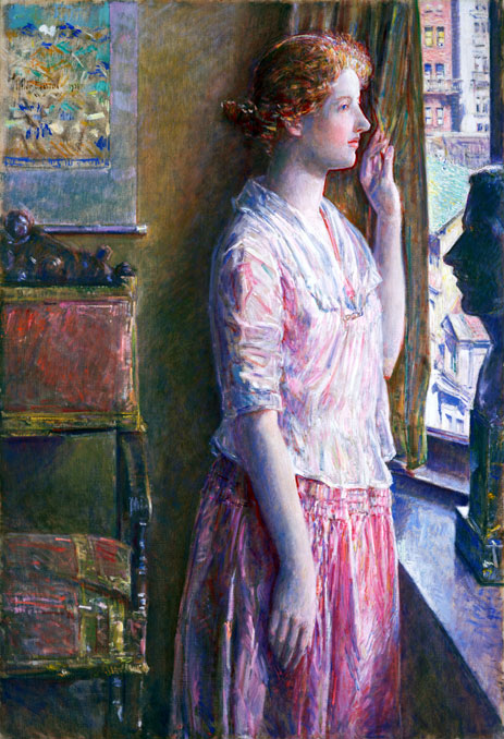 Easter Morning (Portrait at a New York Window), 1921 | Hassam | Painting Reproduction