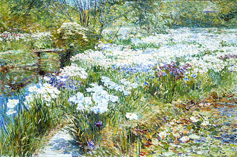 The Water Garden, 1909 | Hassam | Painting Reproduction