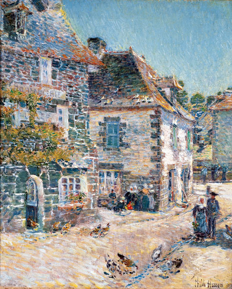 Hassam | Pont-Aven, Noon Day, 1897 | Giclée Canvas Print