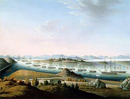 Chinese School | View of Whampoa, c.1840 | Giclée Canvas Print