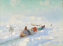Clarence Gagnon | The Ice Bridge, Quebec, undated | Giclée Canvas Print