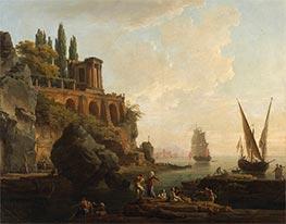 Imaginary Landscape, Italian Harbor Scene, 1746 by Claude-Joseph Vernet | Giclée Canvas Print
