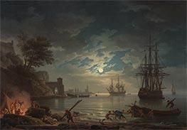 Moonlight, 1772 by Claude-Joseph Vernet | Giclée Canvas Print