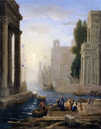 Claude Lorrain | Embarkation of St Paula, a.1642 | Giclée Canvas Print