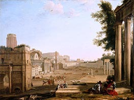 Claude Lorrain | The Campo Vaccino, Rome, c.1640/45 | Giclée Canvas Print