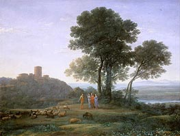 Claude Lorrain | Jacob with Laban and his Daughters, 1676 | Giclée Canvas Print