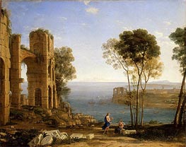 Claude Lorrain | Coast View with Apollo and the Cumaean Sibyl, c.1645/49 | Giclée Canvas Print