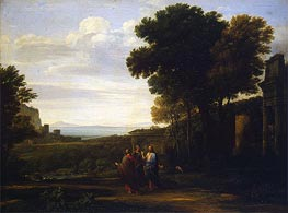 Claude Lorrain | Landscape with Christ on the Road to Emmaus, 1660 | Giclée Canvas Print