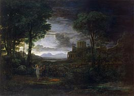 Claude Lorrain | Landscape with Jacob Wrestling with the Angel, 1672 | Giclée Canvas Print