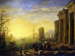 Claude Lorrain | Morning in the Harbour | Giclée Canvas Print