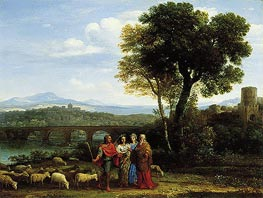Claude Lorrain | Landscape with Jacob and Laban and His Daughters | Giclée Canvas Print