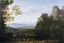 Claude Lorrain | Landscape with Apollo and Mercury | Giclée Canvas Print