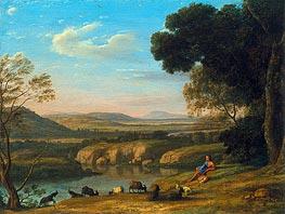 Claude Lorrain | River Landscape with Goatherd, 1640 | Giclée Canvas Print