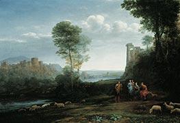 Pastoral Landscape, 1677 by Claude Lorrain | Giclée Canvas Print