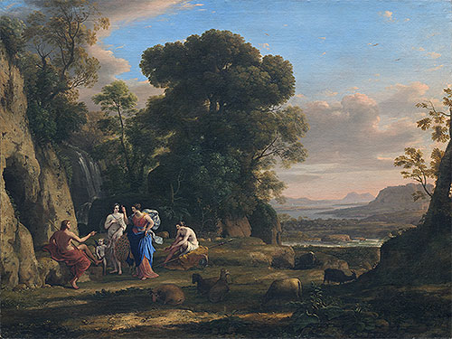The Judgment of Paris, c.1645/46 | Claude Lorrain | Painting Reproduction