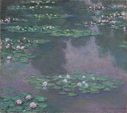 Monet | Water Lilies I, 1905 by | Giclée Canvas Print