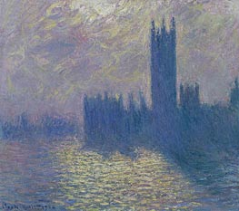 Monet | Houses of Parliament, Stormy Sky | Giclée Canvas Print