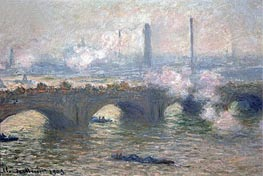 Monet | Waterloo Bridge, Gray Day | Giclée Canvas Print