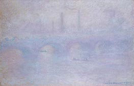 Monet | Waterloo Bridge, Effect of Fog | Giclée Canvas Print
