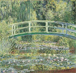 Monet | Water Lily Pond and Japanese Bridge | Giclée Canvas Print