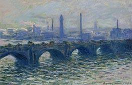 Monet | Waterloo Bridge, Misty Morning | Giclée Canvas Print