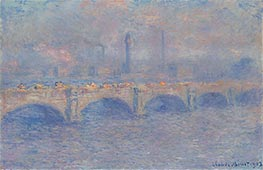 Monet | Waterloo Bridge, Sunlight Effect | Giclée Canvas Print