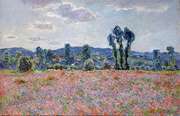 Monet | Poppy Field | Giclée Canvas Print