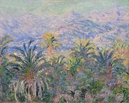 Monet | Palm Trees at Bordighera | Giclée Canvas Print