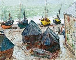 Monet | Boats on the Beach at Etretat | Giclée Canvas Print