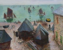 Monet | The Departure of the Boats, Etretat | Giclée Canvas Print