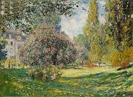 Monet | Landscape: The Parc Monceau, Paris, 1876 by | Giclée Canvas Print