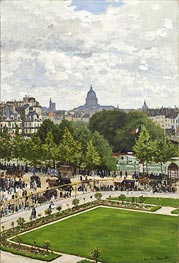 Monet   Garden of the Princess, Louvre   Giclée Canvas Print