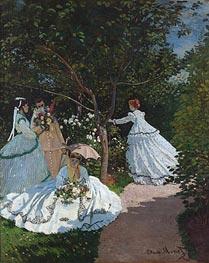 Monet   Women in the Garden   Giclée Canvas Print