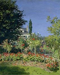 Monet   Flowering Garden at Sainte-Adresse   Giclée Canvas Print