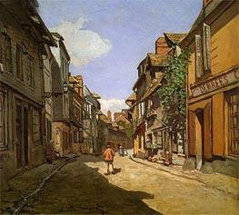 Monet | La Rue de La Bavolle at Honfleur, 1864 by | Giclée Canvas Print